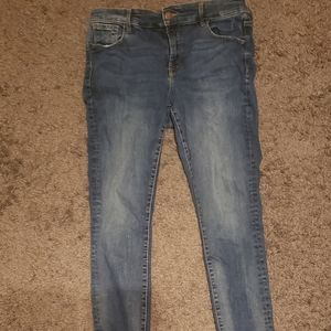 Old Navy Rockstar skinny jeans with frayed edges